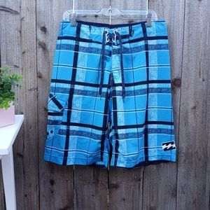 Men's Billabong Platinum X Stretch Plaid Shorts